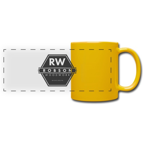 RW logo flat transparent original - Full Colour Panoramic Mug