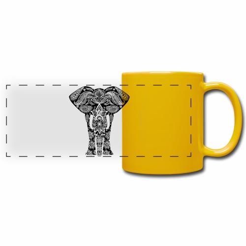 Ażurowy słoń - Kolorowy kubek panoramiczny
