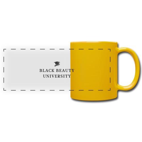 BLACK BEAUTY UNIVERSITY LOGO BLACK - Mug panoramique uni