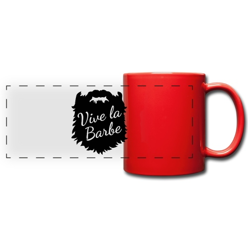 T-Shirt Barbe : Vive la Barbe - QueBellissimo - Mug panoramique uni
