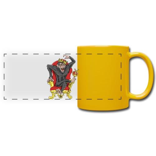 Bitcoin Monkey King - Beta Edition - Panoramatasse farbig