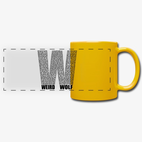 The Big W (Black) - Full Color Panoramic Mug