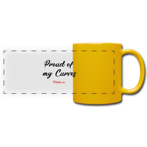 Proud of my Curves by Fatastic.me - Full Colour Panoramic Mug