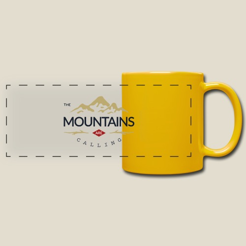 Outdoor mountain - Mug panoramique uni