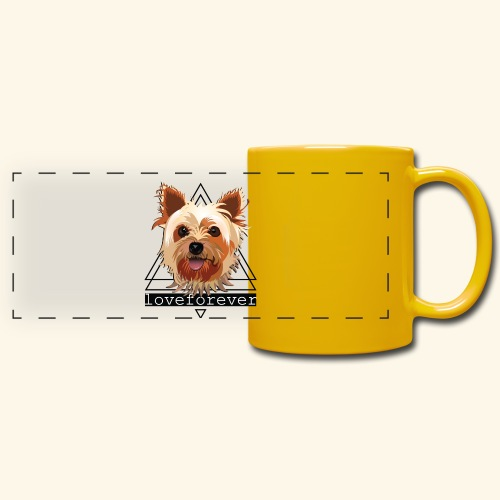 YORKIE LOVE FOREVER - Taza panorámica de colores