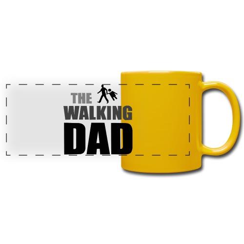 the walking dad auf dem Weg in die lustige Bar - Panoramatasse farbig