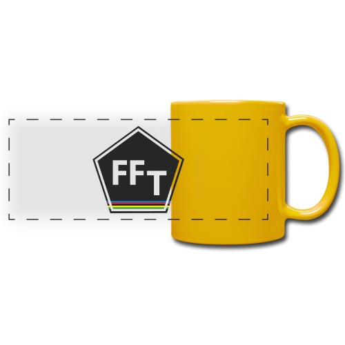 FFT logo colour (Fastfitnesstips) - Full Color Panoramic Mug