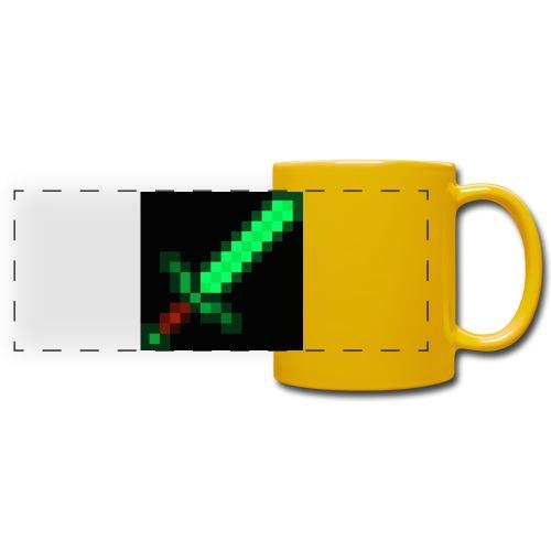 green emerald MCPE sword - Full Colour Panoramic Mug
