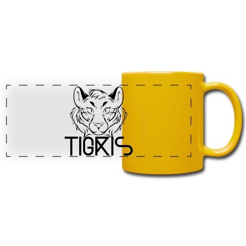 Tigris Logo Picture Text Black - Full Color Panoramic Mug