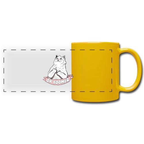 OK Boomer Cat Meme - Full Color Panoramic Mug