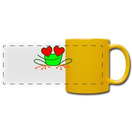Frog in Love - Full Color Panoramic Mug