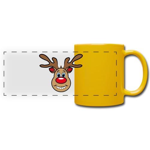 Ugly Christmas Weihnachten Xmas Rudi Reindeer - Panoramatasse farbig
