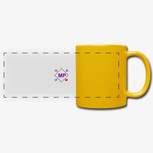 MP logo with social media icons - Full Color Panoramic Mug