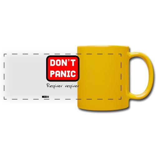 don't panic, respirer - Mug panoramique uni