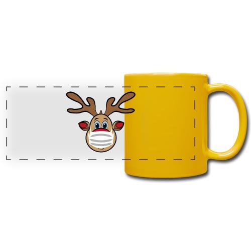 Ugly Xmas Rudi Reindeer mit Maske - Panoramatasse farbig