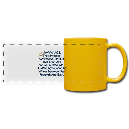 Mawwiage (blue) - Full Colour Panoramic Mug