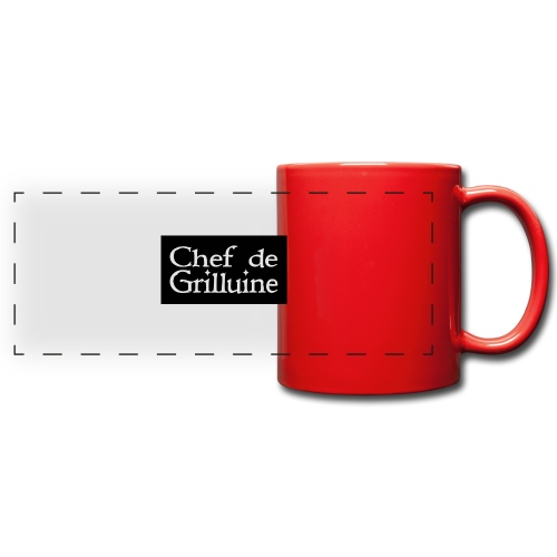 Chef de Grilluine - der Chef am Grill - Panoramatasse farbig
