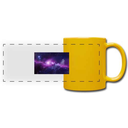 tshirt galaxy - Mug panoramique uni