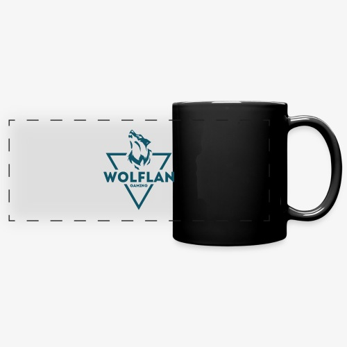 WolfLAN Logo Gray/Blue - Full Colour Panoramic Mug