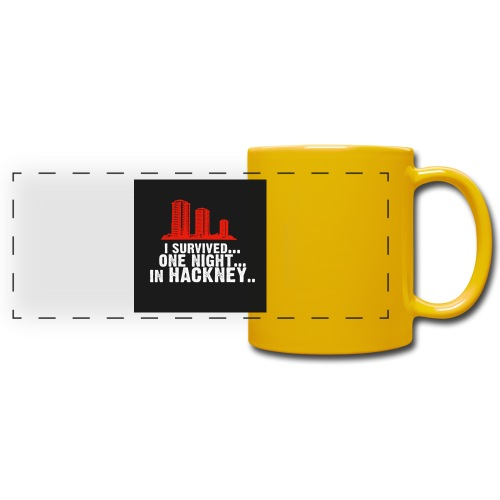 i survived one night in hackney badge - Full Colour Panoramic Mug