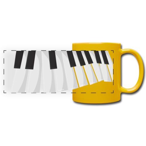Une certaine perspective du piano en noir et blanc - Mug panoramique uni