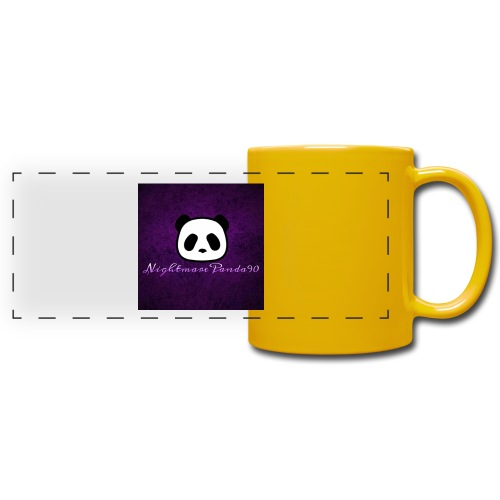 nightmare panda watermark - Full Color Panoramic Mug