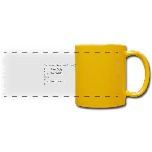 Kaffee Design für Programmierer und Coder - css - Panoramatasse farbig