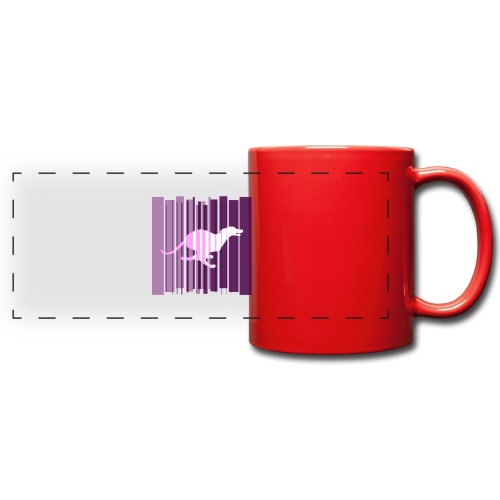 Sighthound In Purple Women's T - Full Color Panoramic Mug