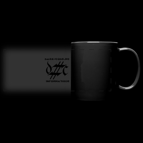Dark-Code Black Gothic Logo - Mug panoramique uni