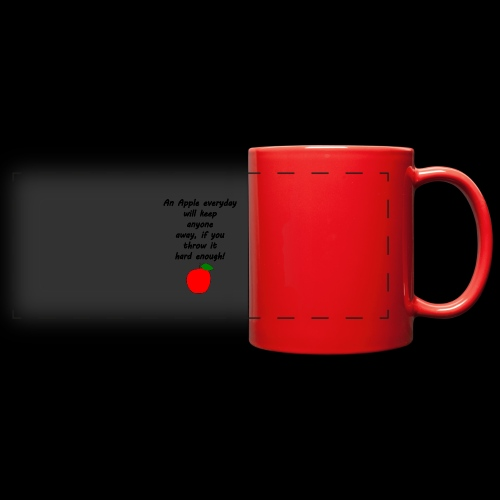 Apple Apfel Doctor Zitat Spruch Lustig - Panoramatasse farbig