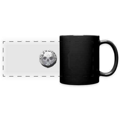 Rigormortiz Black and White Design - Full Colour Panoramic Mug