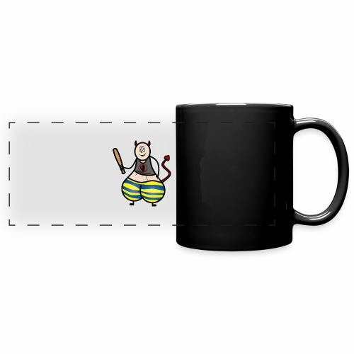 Devil No Touchies Charlie - Full Colour Panoramic Mug