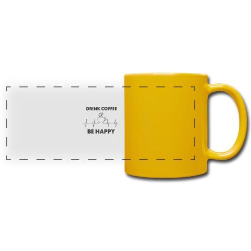 Kaffe Tasse mit Spruch - Panoramatasse farbig