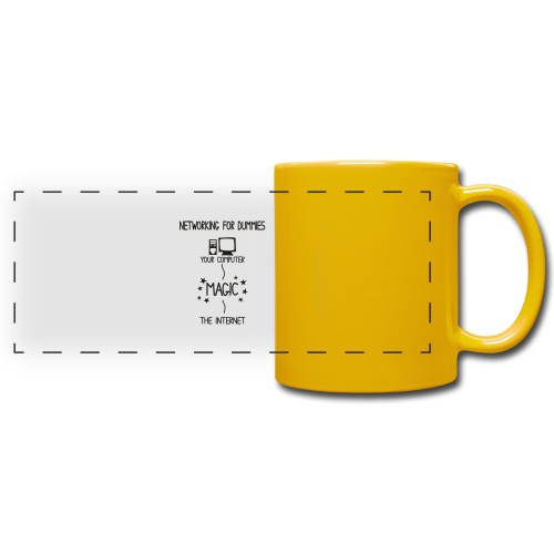 Network Schematic for Dummies - Full Color Panoramic Mug