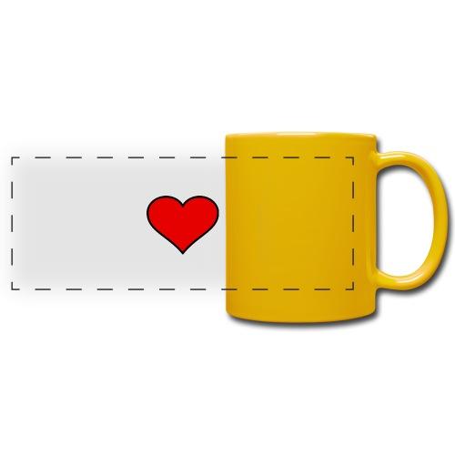 big heart clipart 3 - Färgad panoramamugg