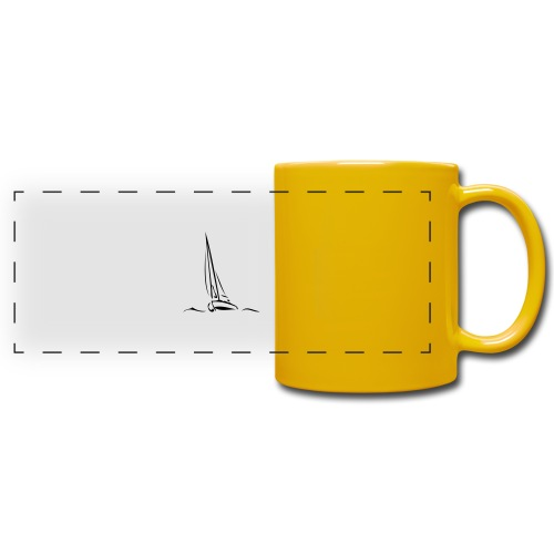Segelboot - Panoramatasse farbig