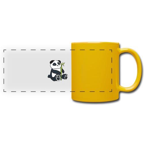 Oso Panda con Bamboo - Taza panorámica de colores