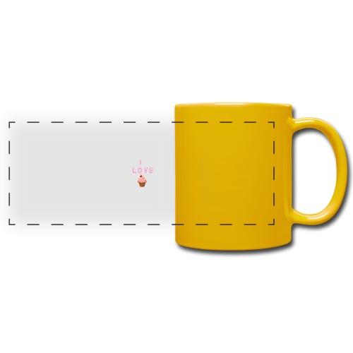 I LOVE CUPCAKES - Taza panorámica de colores