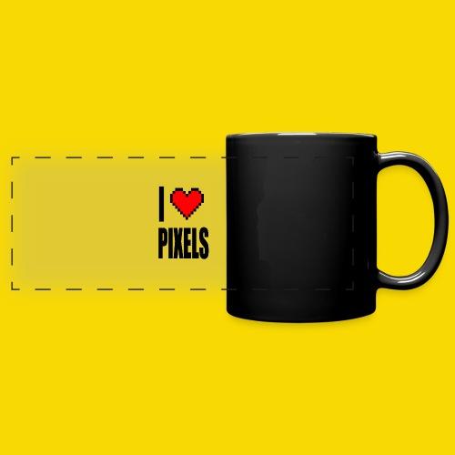 I Love Pixels - Kolorowy kubek panoramiczny