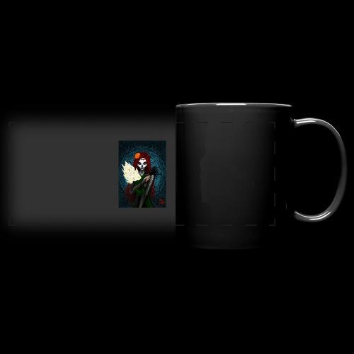 Death and lillies - Full Colour Panoramic Mug