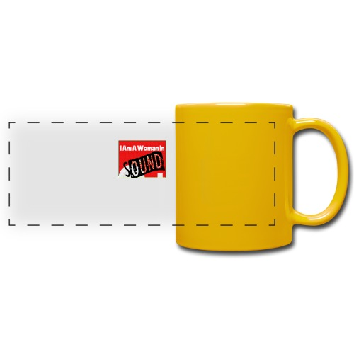 I am a woman in sound - red - Full Color Panoramic Mug