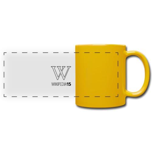 W, rak, vit - Färgad panoramamugg
