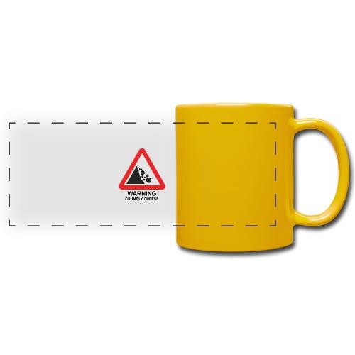WARNING: CRUMBLY CHEESE - Full Color Panoramic Mug