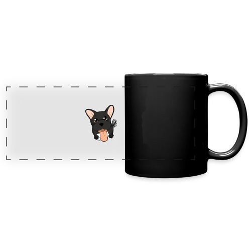Bouledogue Francese nero - Tazza colorata con vista