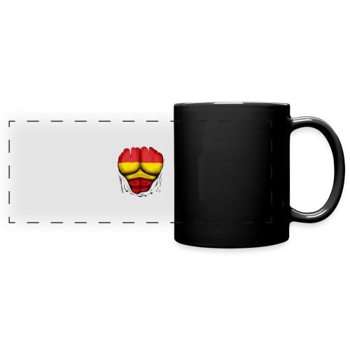 España Flag Ripped Muscles six pack chest t-shirt - Full Colour Panoramic Mug