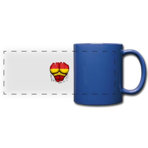 España Flag Ripped Muscles six pack chest t-shirt - Full Color Panoramic Mug