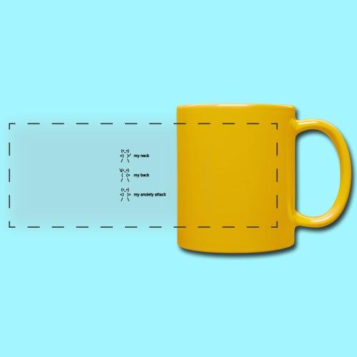 neck back anxiety attack - Full Color Panoramic Mug