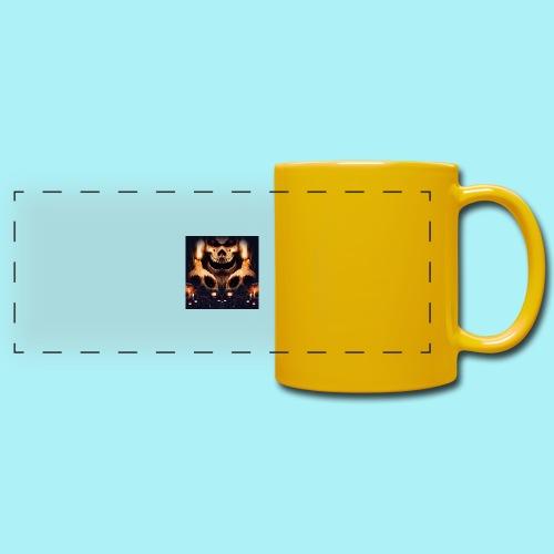 Tête de mort à la chandelle - Mug panoramique uni