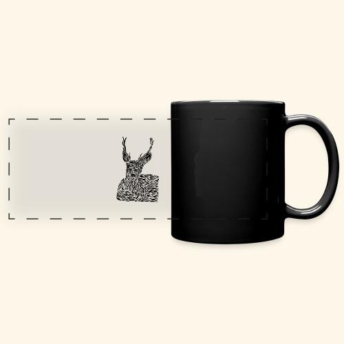 deer black and white - Panoraamamuki värillinen