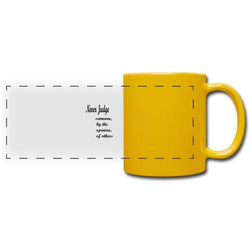 Never Judge - Full Color Panoramic Mug